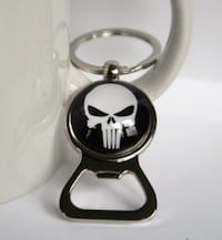 Punisher Skull Keyring Bottle Opener Silver Spring, 20910