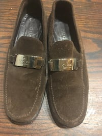 pair of brown suede loafers Aurora, 44202