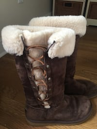 UGG boots. Like new . Worn once. Size 8. Orange, 06477