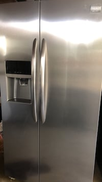 silver side-by-side refrigerator with dispenser Lancaster, 93535