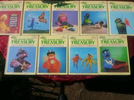 9 Sesame Street Treasury Books Bundle