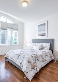 Queen Grey Bed With Mattress And Box Toronto