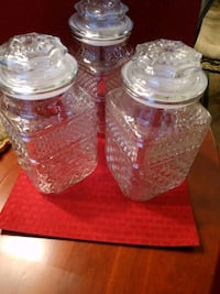 Glass storage jars Howell, 48855