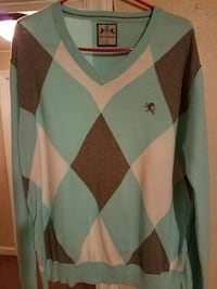 Baby blue & gray Express sweater Upper Darby