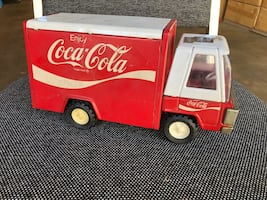Two Vintage Toy Trucks - Coca Cola Delivery Truck and Tonka Truck