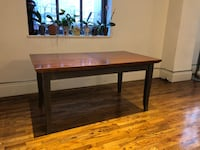 "Expandable Dining Table - Crate & Barrel. 35"" x 62"" to 35"" x 116"" New York, 10018"