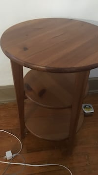 round brown wooden side table Lansing, 48915