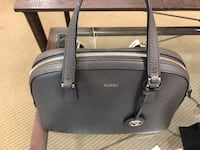 black leather 2-way handbag 615 mi