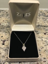 Zales necklace never worn, verified 14k gold chain and 10k diamond pendent. $300 or best offer! Ashburn, 20147