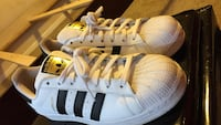 pair of white-and-black Adidas Superstar Oxon Hill, 20745