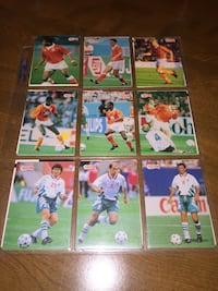 Soccer cards collection.
