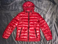 Men Zara Red Bubble Puffer