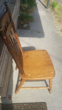 brown wooden windsor rocking chair Seattle, 98103