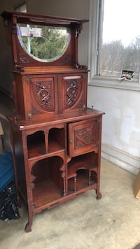 brown wooden cabinet with hutch Boyds, 20841