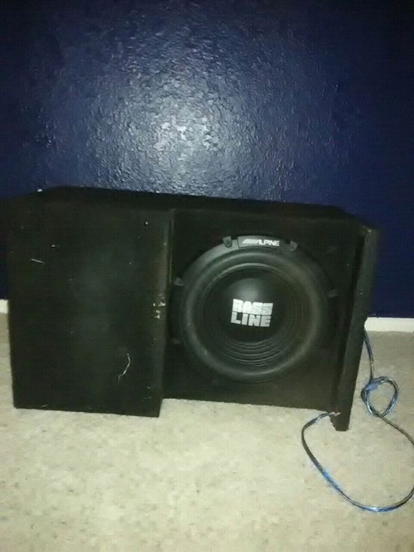 Alpine bass line sub woofer