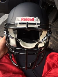 "Riddell Matte Black Football Helmet (Large"" Falls Church, 22042"
