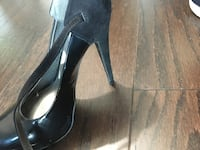 pair of black leather heeled shoes Falls Church, 22041