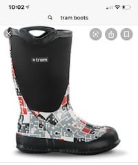 Tram kids rubber boots youth size 3 Vaughan, L4H 0N1