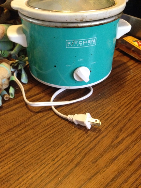Used teal and white kitchen electives rice cooker for sale in ...