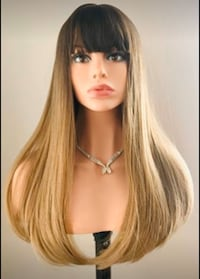 Long Ombre Golden Brown Wig for Everyday