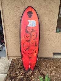 red and black surf board San Diego, 92109