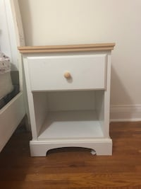White wooden 2-drawer nightstand Toronto, M6A 1N8