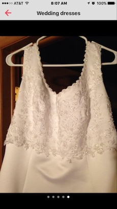Wedding dress in sturgis letgo for Wedding dress cleaned and boxed