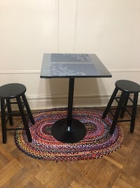 Table set with two stools