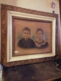 Antique picture and frame Township of Taylorsville, 28681