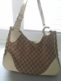 Monogrammed brown gucci bag Coquitlam