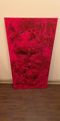 Red and black abstract painting Dallas, 75209