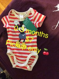 toddler's white and red onesie 53 mi