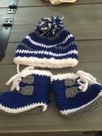 Knitted 0-3 months hat and boots Edmonton, T6T 1S6
