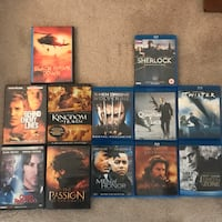 Various Blu-ray and DVDs
