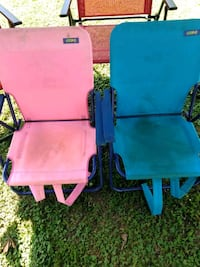 two blue and pink plastic armchairs Rome, 30165