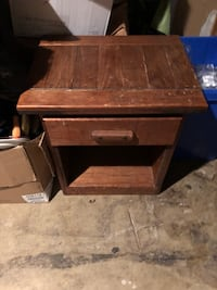 brown wooden single drawer end table Gaithersburg, 20879
