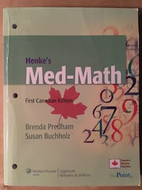 Henke's Med-Math, First Canadian Edition with CD and Access Code South-West Oxford, N5C 3J7