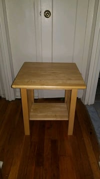 Wood side table nightstand  Maywood