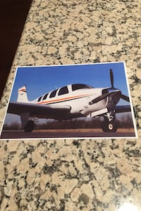 Beechcraft G36 Bonanza aircraft illustration Los Angeles, 90049