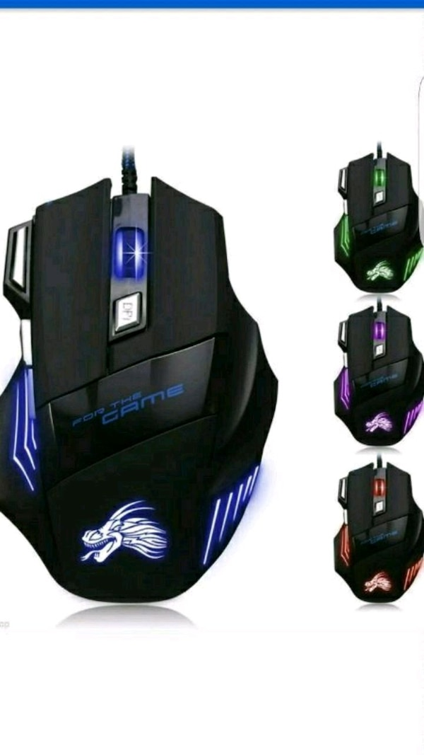 5500 DPI 7 Button LED Optical USB Wired Gaming Mou