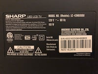"""SHARP TV 44"""" barely used. Bought it 7 months back Lincoln, 68505"""