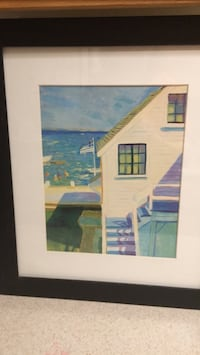 frame print by Gary Head  , from Hallmark, beach house with children playing  in the beach Las Vegas, 89147
