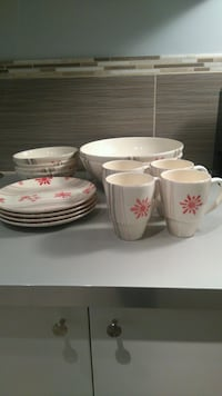 Christmas plate and cup set