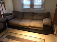 brown fabric 3-seat sofa Silver Spring, 20904