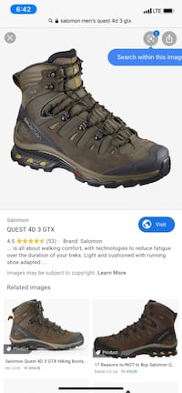 Salomon quest 4d gtx New Rochelle, 10801