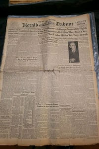 1939 Herald Tribune- complete newspaper.