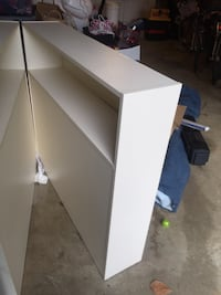 Twin bookcase headboards. Offwhite laminate, very sturdy and functional. Silver Spring, 20905