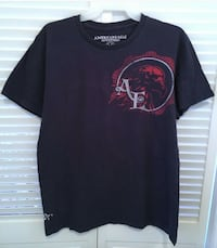 AMERICAN EAGLE NAVY BLUE WITH LOGO SMALL COTTON T SHIRT Broomall
