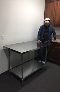 Brand new 48x30x35 stainless steel food prep preparation table heavy duty Los Angeles, 90032