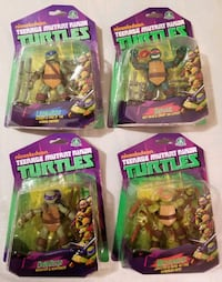 "2013 NICKELODEON TEENAGE MUTANT NINJA TURTLES SET OF 5"" FIGURES   Cambridge"
